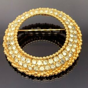 STUNNING Signed Park Lane Circle Wreath Brooch